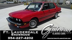 1988 BMW 535is E28 Gateway Classic Cars of Ft. Lauderdale #945