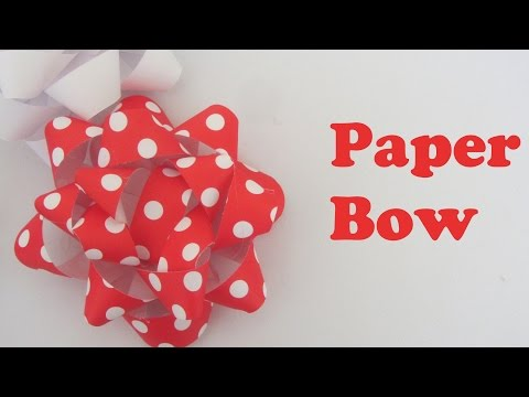 How to Make a Paper Bow for Presents