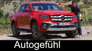Mercedes X-Class FULL REVIEW X-Klasse pickup truck test driven onroad offroad - Autogefühl