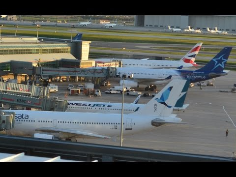Terminal 3 Operations - View from Sheraton Hotel in Toronto (YYZ) Part 3