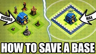 HOW To SAVE A Rushed Base In Clash Of Clans!