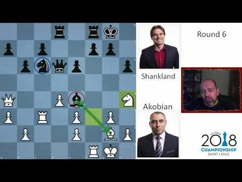 Samuel Shankland sole leader at halfway point | Akobian - Shankland | US Chess Champs