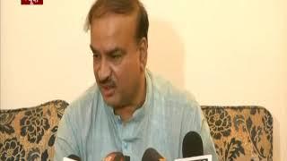 Union Minister Ananth Kumar addresses media on Parliament Session
