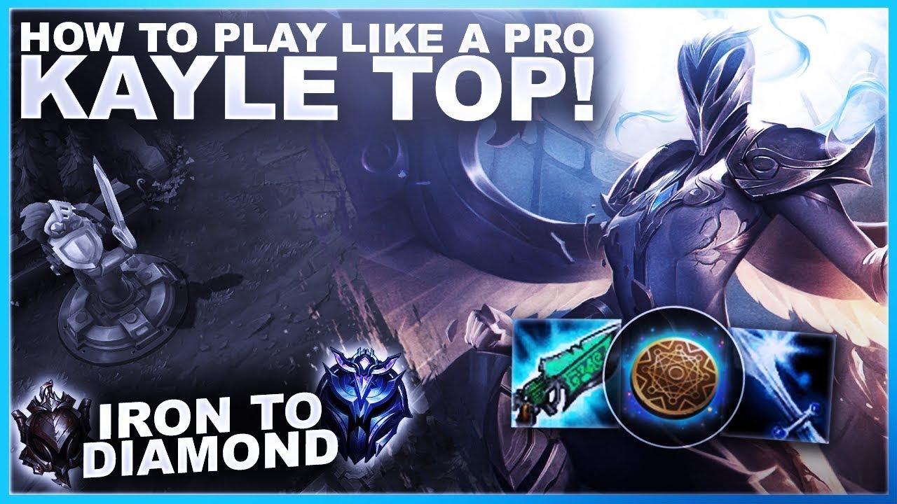ogromny zapas dobra obsługa 100% najwyższej jakości HOW TO PLAY KAYLE TOP LIKE A WORLDS PRO! - Iron to Diamond | League of  Legends