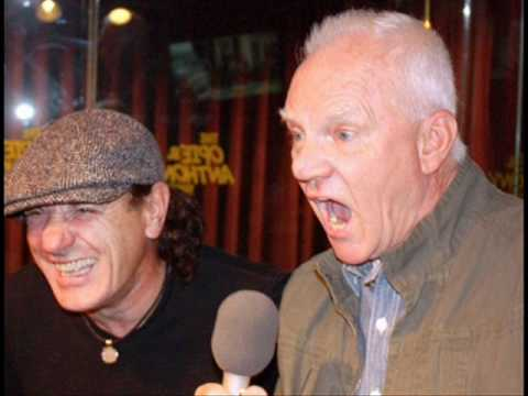 Reunited: Malcolm McDowell and AC/DC's Brian Johns...