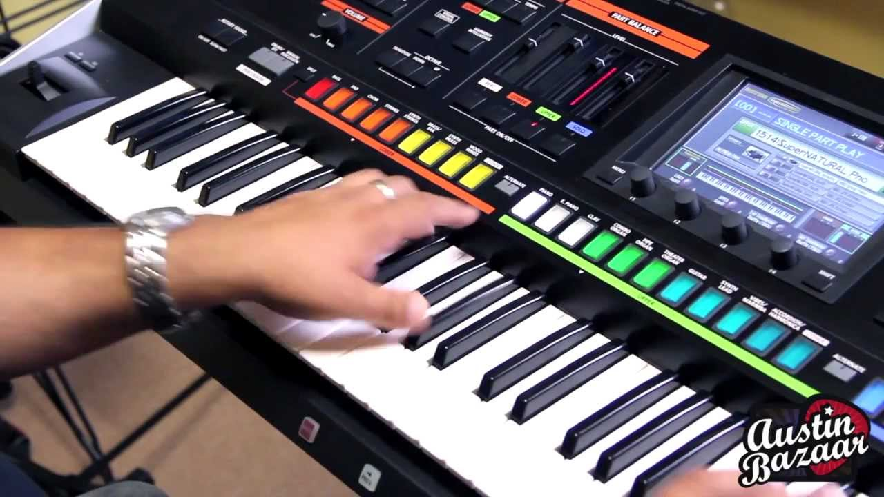 Roland Jupiter-80 Synth Demo with Ed Diaz (4/5): Semi-Weighted Keys