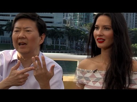 Olivia Munn Refuses to Make Out With Host - Ride Along 2 Interview