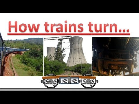 How do trains turn at a curve