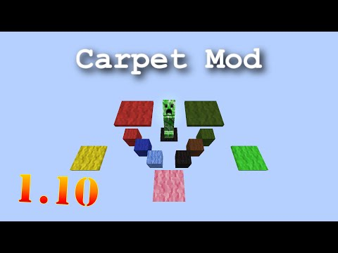 Minecraft 1.10 Carpet Mod - Monitor and Control Spawning