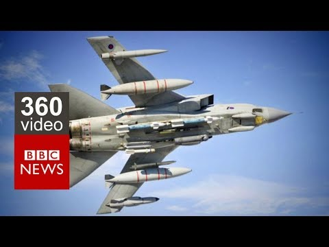 Taking to the skies in a RAF Tornado in 360  BBC News