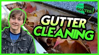 Gutter Cleaning | Clogged Gutters | Great footage!
