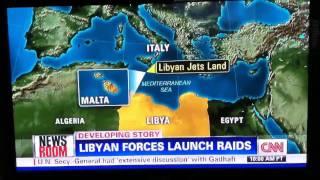 Libyan Aircraft Lands In Malta