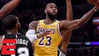LeBron misses 2 overtime free throws, game-winner as Lakers lose to Spurs | NBA Highlights