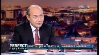 Traian Băsescu, despre Republica Moldova, la #PerfectImperfect