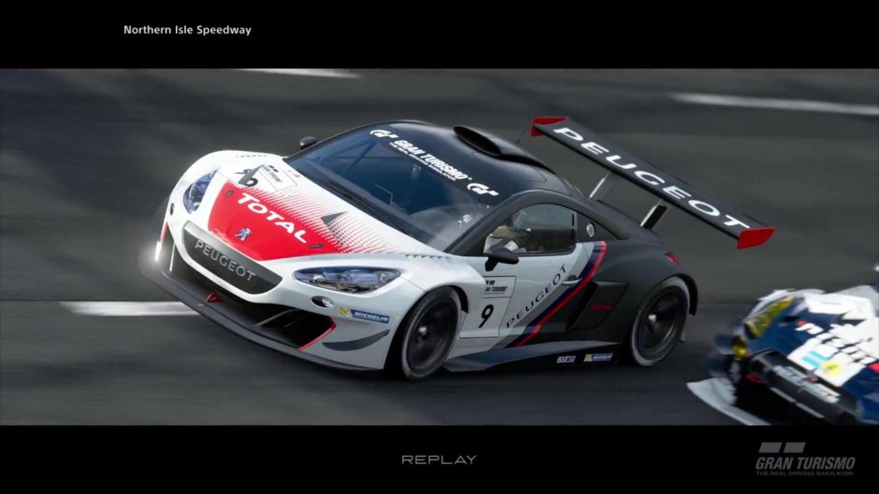GT Sport | First online race (Peugeot RCZ Gr.3 @ Northern Isle ...