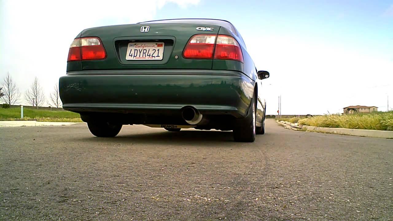magnaflow full catback exhaust on 1999 honda civic sedan dx d16y7