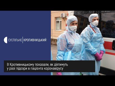 UA: Кропивницький: В обласній лікарні в Кропивницькому показали, як діятимуть у разі підозри в пацієнта коронавірусу.