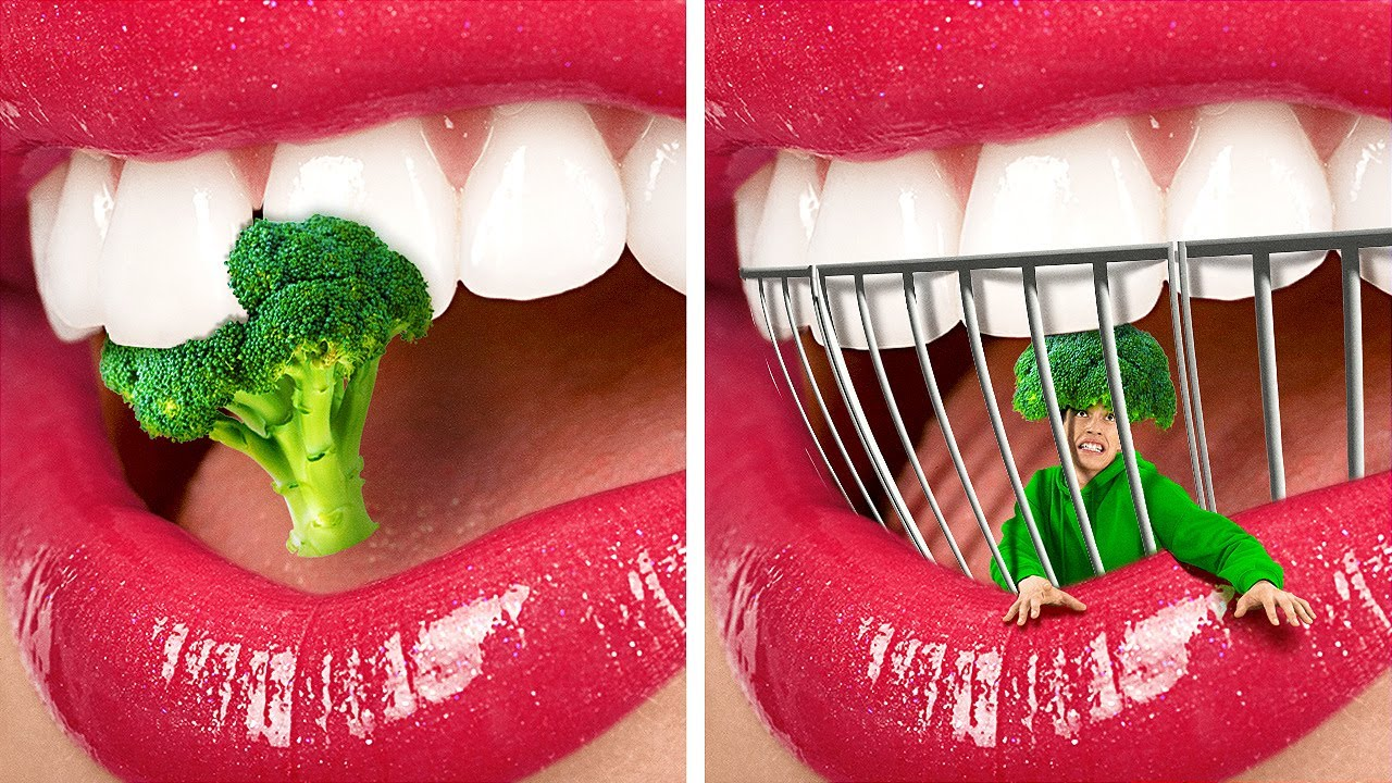 If a Broccoli Was A PERSON!🥦 LIFE-SAVING Hacks And DIYs For Clumsy People