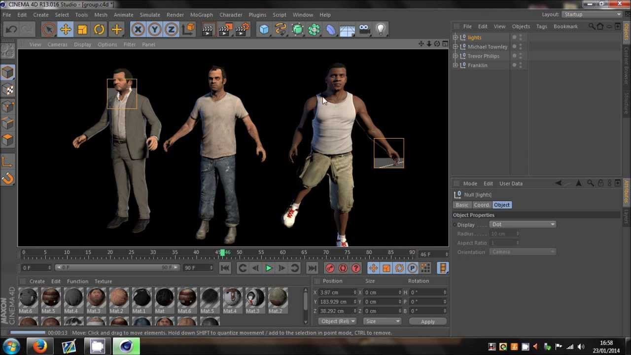 Cinema 4D | GTA 5 Character Models (Rigged)