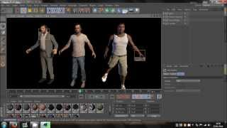 cinema 4d   gta 5 character models rigged