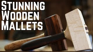 Building Beautiful Wooden Mallets!!! How To // Woodworking // DIY