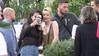 EXCLUSIVE - Amber Heard arrives at Miramar Beach in Cannes