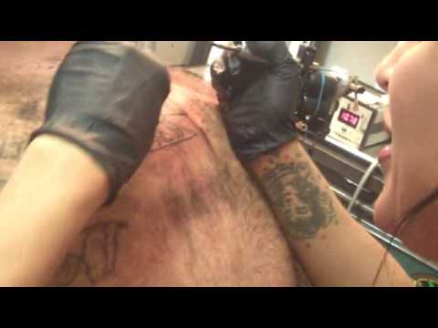 chassity tattoos IRON CROSS and adds letters