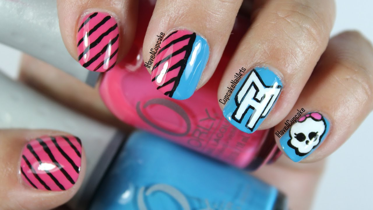 Monster High Nail Art