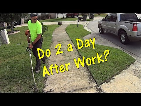 Make $80 in Less than 2 hours - Lawn Mowing #SideHustle - Grass Cutting Video