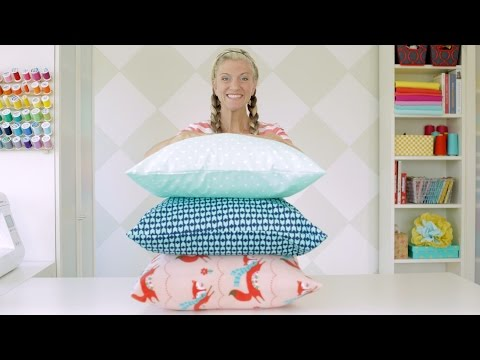 How to sew a pillowcase • two ways • 1 yard of fabric
