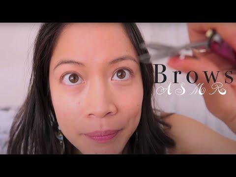 ASMR Doing Your Brows Roleplay ~ Brushing / Plucking / Spritzing / Tweezing / Cutting