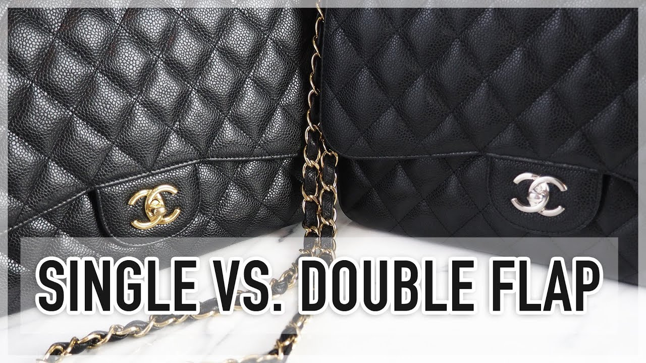 CHANEL CLASSIC FLAP SINGLE VS. DOUBLE COMPARISON - YouTube 3893efb20272a