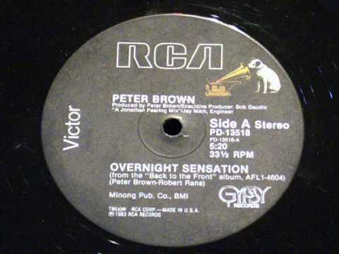 Overnight sensation - Peter brown