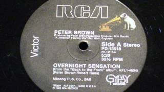 Overnight sensation - Peter brown
