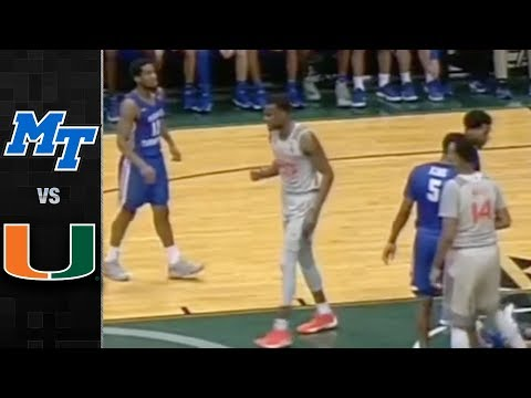 Middle Tennessee vs. Miami Basketball Highlights (2017-18)