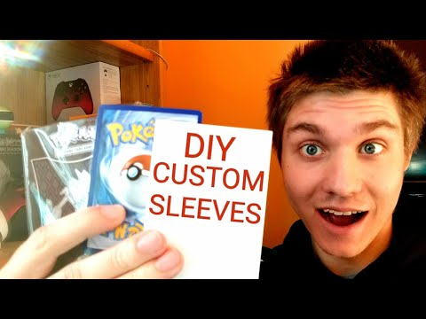 DIY Pokemon Card Sleeves! How To Make Your Own
