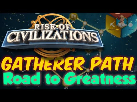 Rise of Civilizations - GATHERER PATH Road to Greatness [Beginner's Guide]