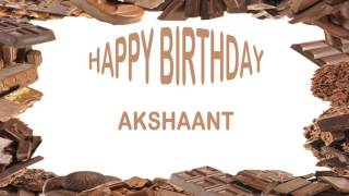 Akshaant   Birthday Postcards & Postales