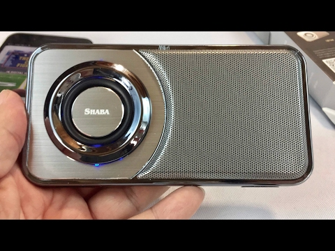 Shaba VS-25 Slim Portable Pocket Bluetooth Speaker with LED Light and integrated Phone Stand review