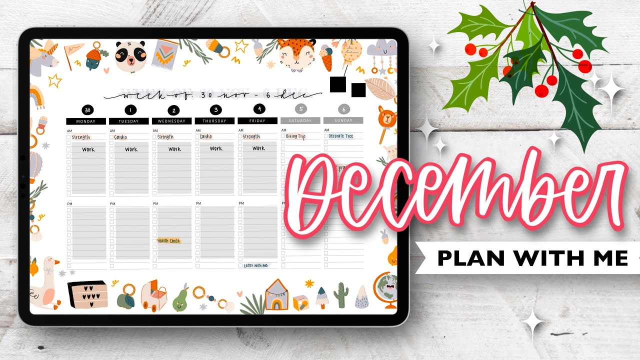 PLAN WITH ME | Digital Bullet Journal December 2020 | Holiday Theme