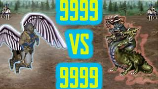 9999 Arch Angel vs 9999 Chaos Hydra! heroes 3 (heroes of might and magic 3)