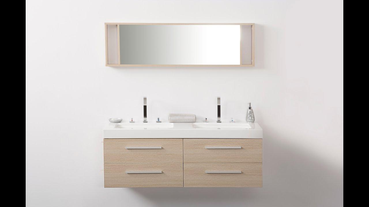 Beliani modern malaga bathroom vanity with sink cabinets and mirrors - Beliani Bathroom Furniture Beige With Wash Basins Wash Basin Cabinets And Mirrors Malaga Eng