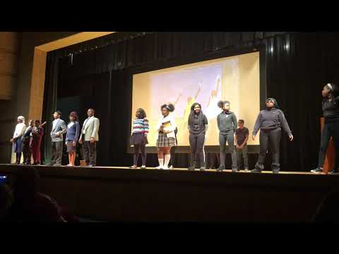 University Academy Middle School Theater Class Black History Performance