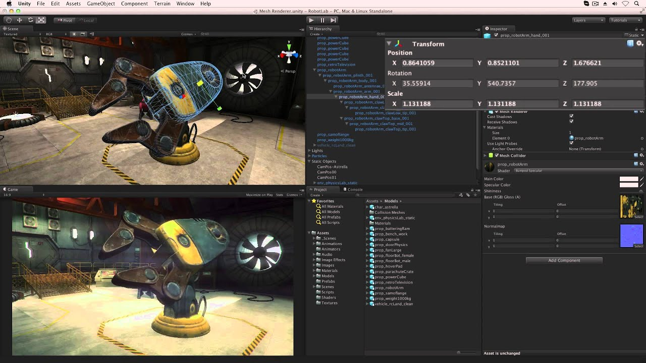 Mesh Renderers and Filters - Unity Official Tutorials