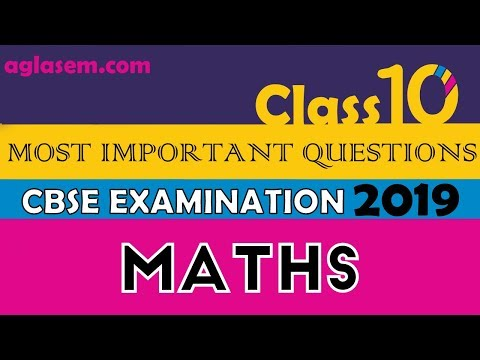 Maths Most Important Questions | Part 1 | CBSE Class 10th