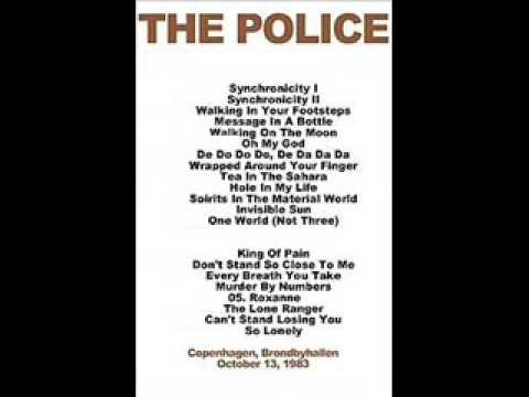 "THE POLICE - Copenhagen 13-10-1983 ""Brondbyhallen"" Denmark (FULL SHOW AUDIO)"