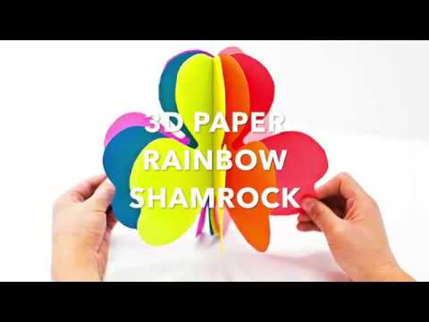 3d Rainbow Paper Shamrock Craft Youtube