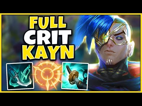 #1 KAYN WORLD THIS CRIT BUILD MAKES KAYN A KILLING MACHINE (1 AUTO = 1 KILL) - League of Legends