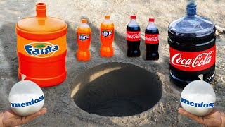 Giant Coca Cola, Fanta and Mentos Underground