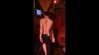 Gays giving girls a strip tease